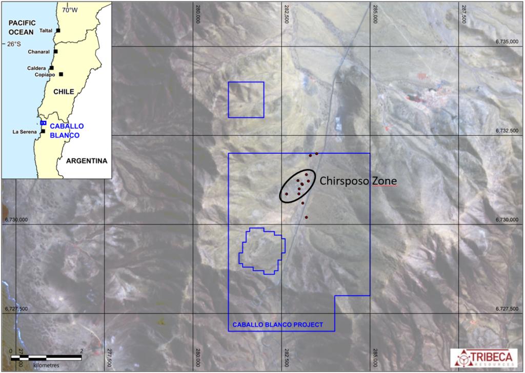 Caballo Blanco Location Map