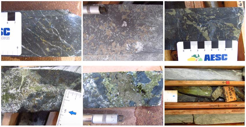 Hole CB-01 Core samples Photos